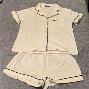 Shein White (bridal) Pajama set